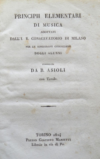 Torino: Marietti, 1824. Octavo. Quarter dark green leather with marbled boards, decorative gilt rule...