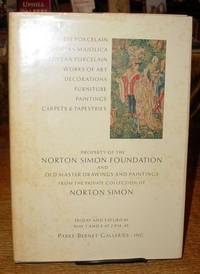Property of the Norton Simon Foundation - Chinese Porcelain, Italian  Majolica, European Porcelain, (and More); Old Master Drawings & Paintings  from the Private Collection of Norton Simon - Parke-Bernet Galleries,  Inc., New York - May 7 - 8, 1971