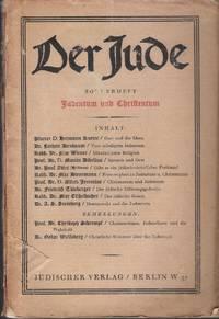 Der Jude. Sonderheft - Judentum und Christentum