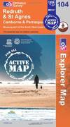 image of Redruth and St Agnes (OS Explorer Map Active)