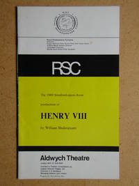Royal Shakespeare Company. Henry VIII By William Shakespeare. Theatre Programme.