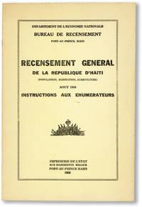image of Recensement General de la Republique D'Haiti (Population, Habitation, Agriculture). Aout 1950 - Instructions aux Enumerateurs