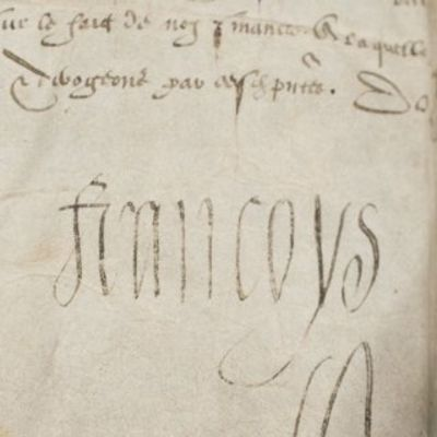 28/02/1560. Francois II One of only four documents of Francois to reach the public market in decades...