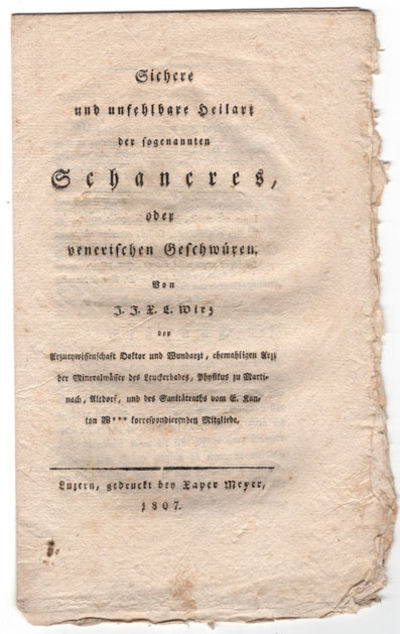 Luzern: gedruckt bey Xaver Mayer, 1807. Wirz claims to have developed a