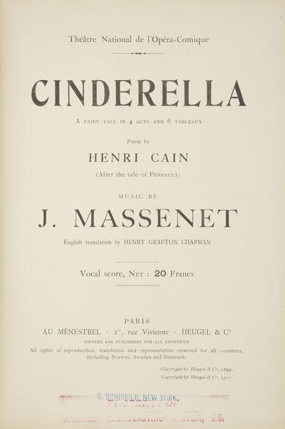 Paris: Au Ménestrel, Heugel & Cie. , 1911. Large octavo. Full red cloth with titling and border gil...
