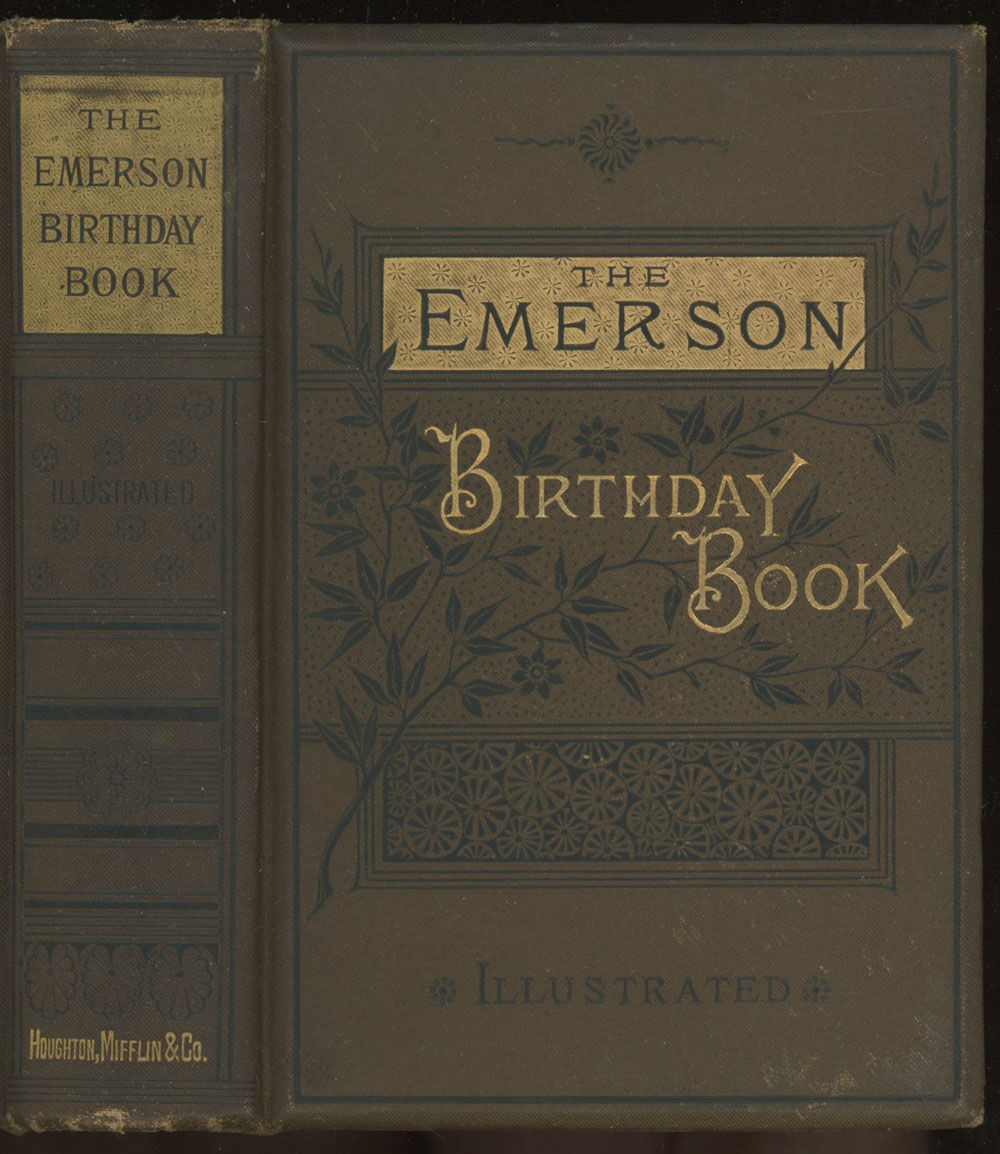 The Emerson Birthday Book By Emerson Ralph Waldo 1882