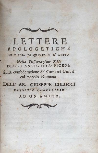 Lettere Apologetiche In Difesa Di...