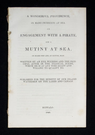 Earliest Found and Earliest Attainable Pamphlet by Sea Captain Elijah Holcomb . A Wonderful Providen...