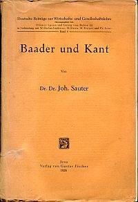 Baader und Kant.