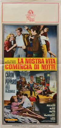 image of La Nostra Vita Comincia di Notte [The Subterraneans] (Original Italian poster for the 1960 film)