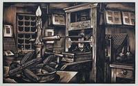 Old Printing Office: Wood Engraving by John DePol