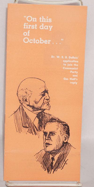 New York: Communist Party, 1962. Pamphlet. , upright 8.5x3.75 inch staplebound wraps printed black a...