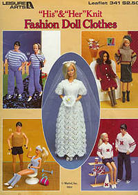 """His"" & ""Her"" Knit Fashion Doll Clothes Leaflet 341"