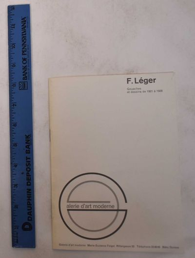 Basel: Galerie d'Art Moderne, 1964. Paperback. VG-. White wraps with gray lettering and design. 20 p...