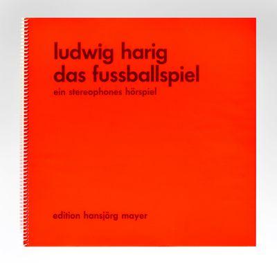 folded leaves, printed letterpress. Large 4to (320 x 340 mm.), orig. bright orange dust-jacket past...