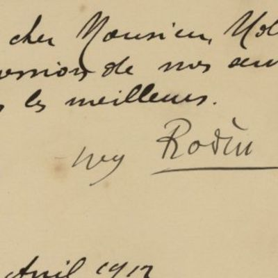 24/04/1912. Auguste Rodin is in many ways the father of modern sculpture and one of the most well kn...