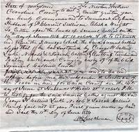 CAROLINE COUNTY COURT SUMMONS, 11 June 1856, ISSUED AND SIGNED BY WILLIAM LOOCKERMAN, JUSTICE OF THE PEACE