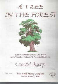 A Tree in the Forest Early Elementary Piano Solo Sheet Music