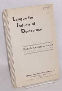 Thirtieth anniversary report, 1905-1935