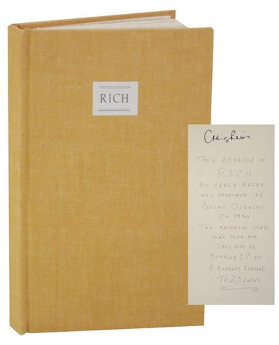 London: Faber and Faber, 1984. First edition. Hardcover. Copy 17 from an edition of only 21 copies s...