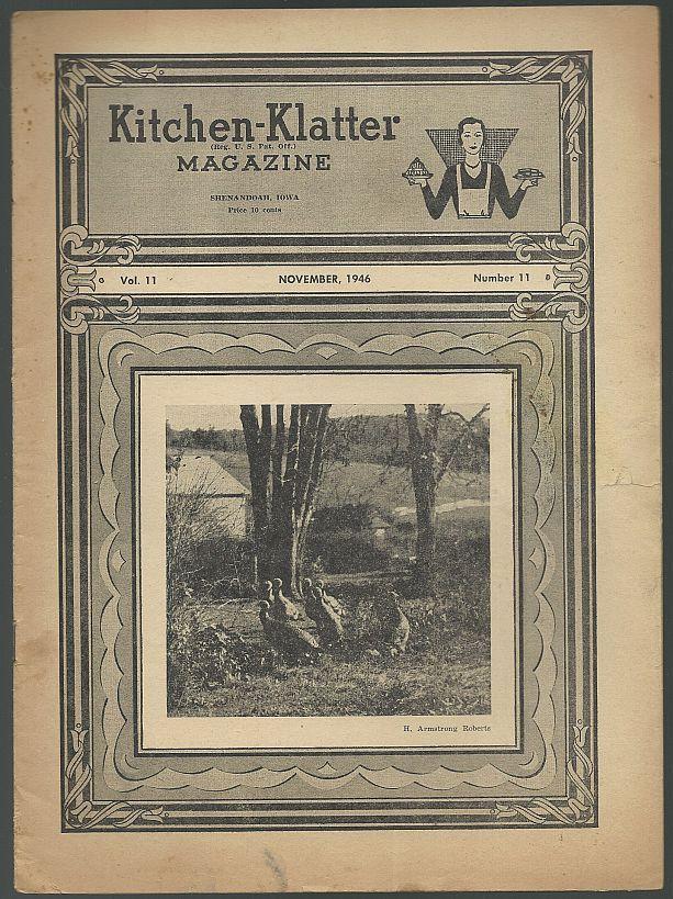 KITCHEN KLATTER MAGAZINE NOVEMBER 1946, Driftmier, Leanna Field