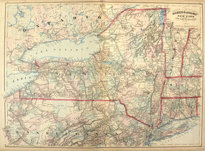 New York: Asher & Adams, 1872. unbound. very good. Map. Engraving with original hand coloring. Image...