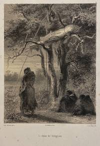[TWO ORIGINAL LITHOGRAPHS OF NATIVE AMERICANS]: Tombeaux des indiens sioux together with Chef Indien (title in pencil)