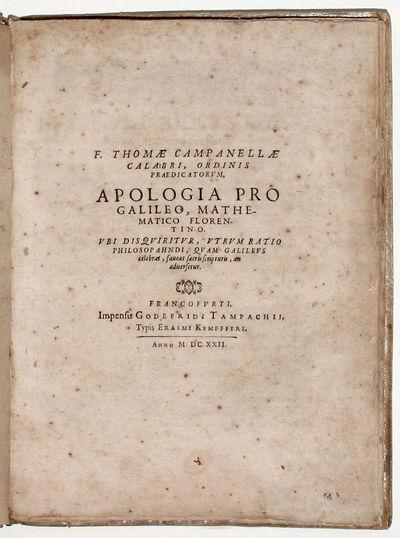 Frankfurt: Erasmus Kempffer for Godfried Tampach, 1622. Hardcover. Very Good. 4to, . 58 pp, . Bound ...