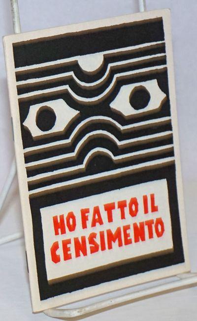Viterbo: Stampa alternativa, 1992. 30p., staplebound booklet, very good. Text in Italian. Millelire.