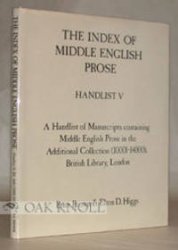 Woodbridge: D.S. Brewer, 1988. paper-covered boards, dust jacket. Index of Middle English Prose. sma...