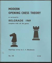 Modern Chess Opening Theory as surveyed in Belgrade 1969