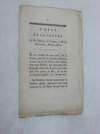 Copie de la lettre de M. l'Evêque de Verdun, à M. de Montmorin, ministre...