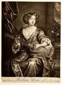 Moll Davis [Mezzotint] 1673 after Lely  (etching) Possibly the first professional woman dancer on the English Stage
