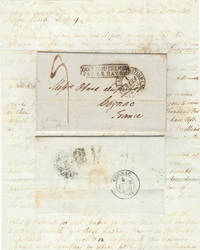 Letter from Ebenezer Stevens & Sons, a New York firm, to Messrs Otard Dupuy, one of the most important Cognac producers in France