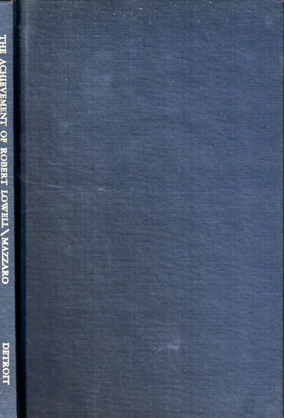 Detroit: University of Detroit Press, 1960. Hardcover. Very good. 41pp. Small ink name on front free...