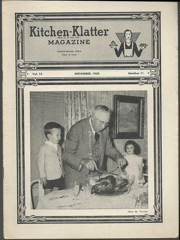 KITCHEN KLATTER MAGAZINE NOVEMBER 1950, Driftmier, Leanna Field
