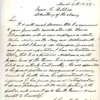 Andrew Johnson, Who Rose From Poverty to the White House, Does a Favor For a Mechanic Extremely Uncommon ALS of Johnson; to the Secretary of the Navy.