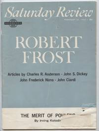 Saturday Review February 23, 1963: Robert Frost