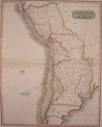 Edinburgh: John Thomson, 1817. unbound. very good. Map. Engraving with beautiful original hand outli...