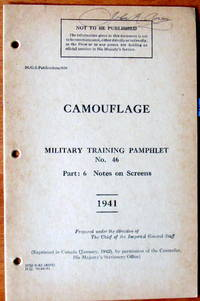 Military Training Pamphlet No. 46. Part 6 Notes on Screens
