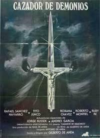 Cazador de demonios [movie poster]. (Cartel de la película) by  Tito Junco  Jose Luis - from Alan Wofsy Fine Arts and Biblio.com