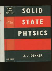 Solid State Physics by  Adrianus J Dekker - Hardcover - 1967 - from Little Stour Books PBFA and Biblio.co.uk