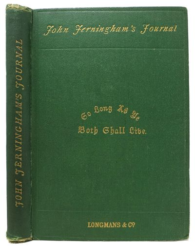 London: Longmans, Green, and Co, 1871. 1st UK edition. Original publisher's green cloth binding with...