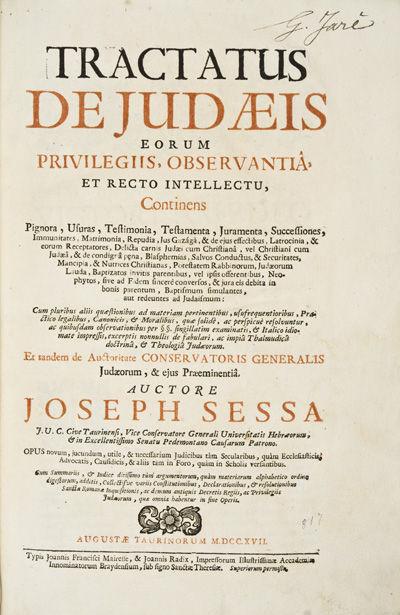 Tractatus de Judaeis eorum...