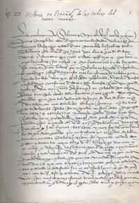 image of Historia en España de las Indias del Nuovo Mondo (Naufragios) Codex Vindobonensus 5620 Osterreichische Nationalbibliothek, Viena