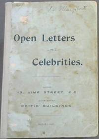 image of Open Letters to Celebrities and other connected with South Africa - reprinted from The Critic (Johannesburg)