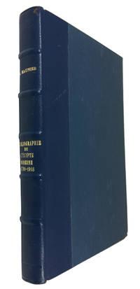 BIbliographie Economique, Juridique et Sociale de l'Egypte Moderne (1798-1916)