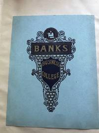 Ca. 1910 Two large scrapbooks of Banks Business College, Philadelphia Pa. Marketing, Brochures, News Clippings, Pictures, etc.