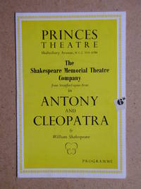 Antony and Cleopatra By William Shakespeare. Theatre Programme.