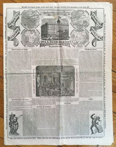 St. Joseph, Mo, 1882. Very good.. 8pp. Newspaper folio. Previously folded. Very minor loss at inters...